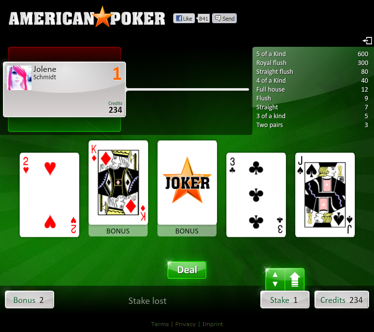 american poker live spielen
